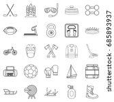 racetrack icons set. outline... | Shutterstock .eps vector #685893937