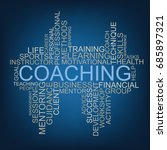 coaching tag cloud | Shutterstock .eps vector #685897321