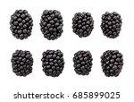 blackberry isolated | Shutterstock . vector #685899025