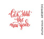 let's start the new year red... | Shutterstock . vector #685899241