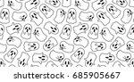 halloween ghost doodle vector... | Shutterstock .eps vector #685905667