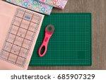 equipment for patchwork. view...   Shutterstock . vector #685907329