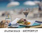 best food in st martin sint... | Shutterstock . vector #685908919