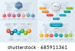 set of presentation business... | Shutterstock .eps vector #685911361