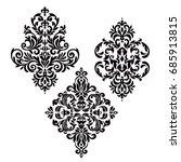 set of vintage baroque  | Shutterstock .eps vector #685913815
