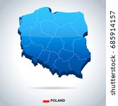 poland map and flag   vector...   Shutterstock .eps vector #685914157