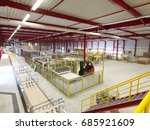 chemical factory. packing area | Shutterstock . vector #685921609