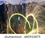 fire dance | Shutterstock . vector #685922875