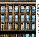 windows reflections  bordeaux ... | Shutterstock . vector #685925494