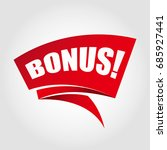 bonus labels banners   Shutterstock .eps vector #685927441