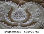 royal icing piping details ... | Shutterstock . vector #685929751
