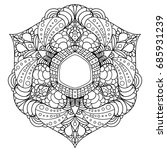 mandala. decorative round... | Shutterstock .eps vector #685931239