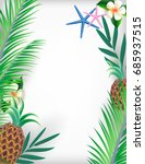 vector illustration summer time ... | Shutterstock .eps vector #685937515