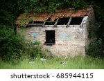 A Ruin Of An Old Cottage That...