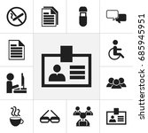 set of 12 editable bureau icons....