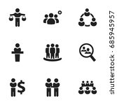set of 9 editable business... | Shutterstock .eps vector #685945957