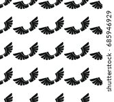 wings seamless pattern vector... | Shutterstock .eps vector #685946929