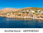 sikinos  tiny and rocky island... | Shutterstock . vector #685948564