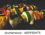 barbecue on electric grill ... | Shutterstock . vector #685950475