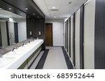 public bathroom  | Shutterstock . vector #685952644