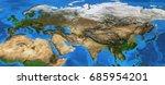 map of eurasia. detailed... | Shutterstock . vector #685954201