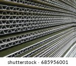 close up of stacked brown... | Shutterstock . vector #685956001