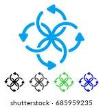 knot rotation flat vector... | Shutterstock .eps vector #685959235
