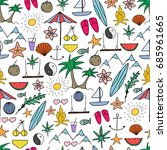summer party pattern. hand... | Shutterstock . vector #685961665