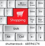 Computer Keyboard With Shoppin...
