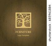 stylized tree logo template.... | Shutterstock .eps vector #685961884