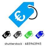 euro tag flat vector... | Shutterstock .eps vector #685963945