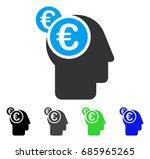 euro businessman intellect flat ... | Shutterstock .eps vector #685965265