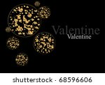 the valentine's day. abstract... | Shutterstock .eps vector #68596606