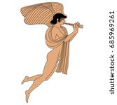 vector image of naked ancient... | Shutterstock .eps vector #685969261