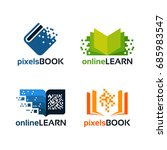 set of online education logo... | Shutterstock .eps vector #685983547