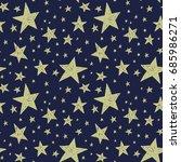 hand drawn stars vector... | Shutterstock .eps vector #685986271