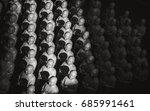 many japanese jizo statues in... | Shutterstock . vector #685991461