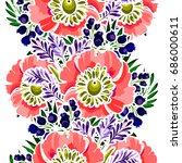 abstract elegance seamless... | Shutterstock . vector #686000611