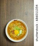 korean food ramen  | Shutterstock . vector #686011354
