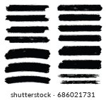 vector brush strokes for grunge ... | Shutterstock .eps vector #686021731