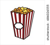 color sketch popcorn | Shutterstock .eps vector #686026555