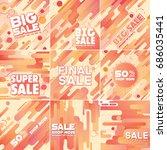 multipurpose social media kit...   Shutterstock .eps vector #686035441