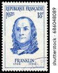 paris  france   nov. 10  1956 ...   Shutterstock . vector #686048089