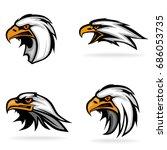 eagle  set  on white background ... | Shutterstock .eps vector #686053735