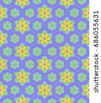 abstract colorful floral...   Shutterstock . vector #686055631