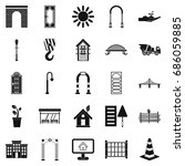 digging icons set. simple set...