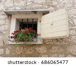 old traditional house in rovinj | Shutterstock . vector #686065477