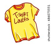 funny and cute cool t shirt for ... | Shutterstock .eps vector #686075551