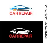car logo automotive for your... | Shutterstock .eps vector #686076265