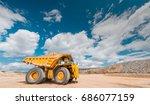 big yellow mining truck | Shutterstock . vector #686077159